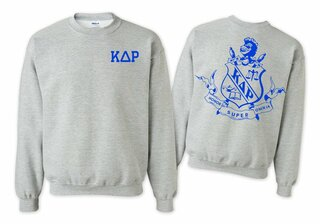 Kappa Delta Rho World Famous Crest - Shield Printed Crewneck Sweatshirt- $25!