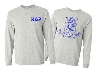 Kappa Delta Rho World Famous Crest - Shield Long Sleeve T-Shirt- $19.95!