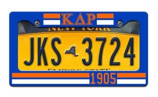 Kappa Delta Rho Year License Plate Frame