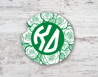 Kappa Delta Roses Sandstone Car Cup Holder Coaster