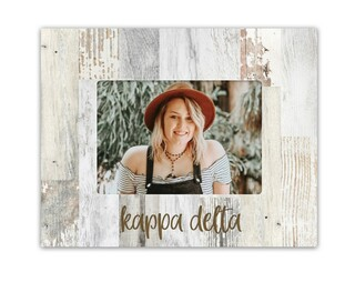 Kappa Delta Rustic Picture Frame