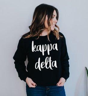 Kappa Delta Script Crew Sweatshirt