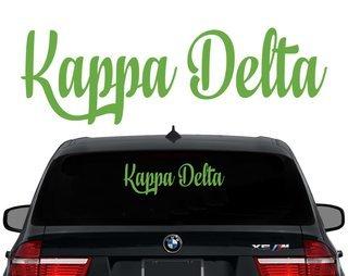 Kappa Delta Script Decal