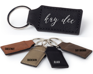 Kappa Delta Script Faux Leather Keychain