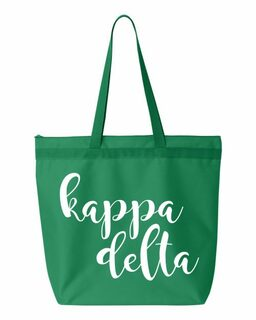 Kappa Delta Script Tote bag