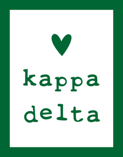 Kappa Delta Simple Heart Sticker