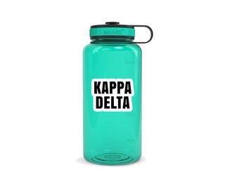 Kappa Delta Simple Wide Mouth Water Bottle