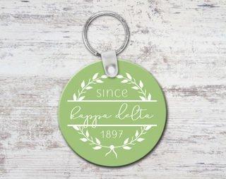 Kappa Delta Since Established Keyring