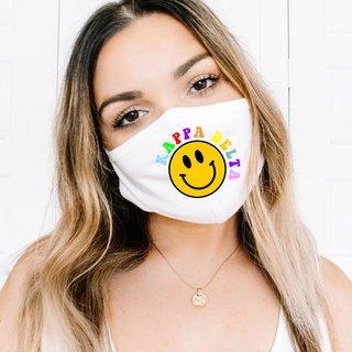 Kappa Delta Smiley Face Face Mask