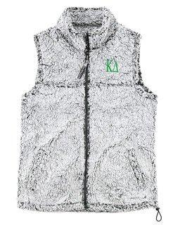 Kappa Delta Smoky Grey Sherpa Vest