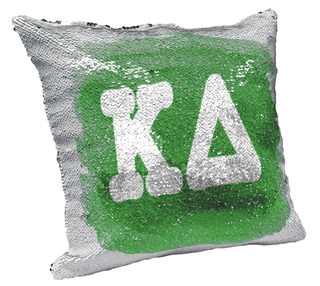 Kappa Delta Sorority Flip Sequin Throw Pillow Cover