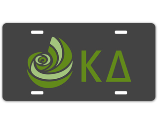 Kappa Delta Sorority Logo License Cover