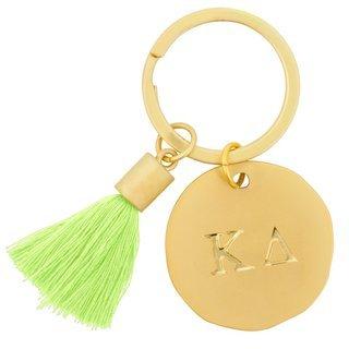 Kappa Delta Sorority Tassel Gold Key Chain
