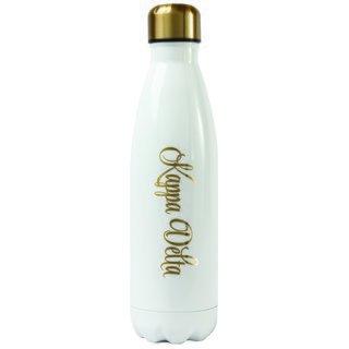 Kappa Delta Stainless Steel Shimmer Water Bottles