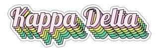 Kappa Delta Step Decal Sticker