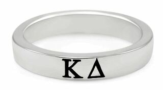 Kappa Delta Sterling Silver Skinny Band Ring