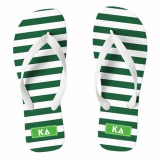 Kappa Delta Striped Flip Flops