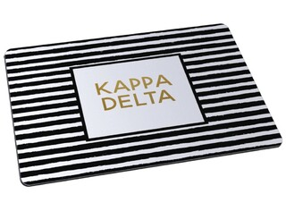 Kappa Delta Striped Mousepad