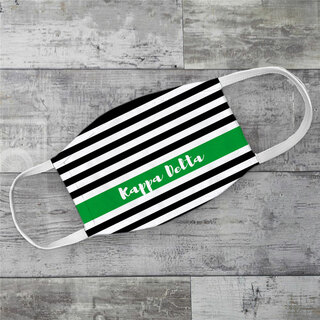 Kappa Delta Stripes Face Mask