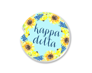 Kappa Delta Sunflower Car Coaster