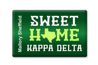 Kappa Delta Sweet Home Ceramic Magnet