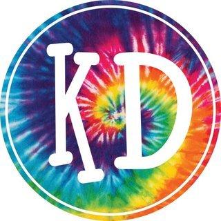 Kappa Delta Tie-Dye Circle Sticker
