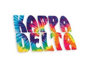 Kappa Delta Tie-Dye Stack Sticker