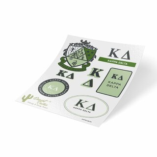 Kappa Delta Traditional Sticker Sheet