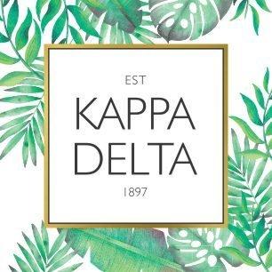 Kappa Delta Tropical Sticker Decal