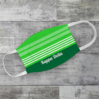 Kappa Delta Two Tone Stripes Face Mask
