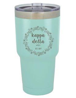 Kappa Delta Vacuum Insulated Floral Tumbler
