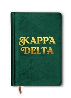 Kappa Delta Velvet Notebook