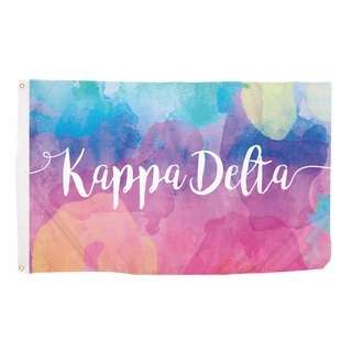 Kappa Delta Watercolor Flag