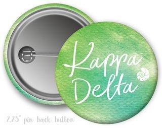 Kappa Delta Watercolor Script Button