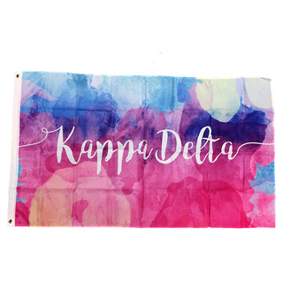 Kappa Delta Watercolor Sorority Flag