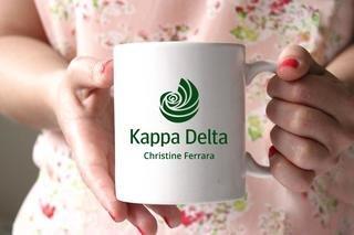 Kappa Delta White Mascot Coffee Mug