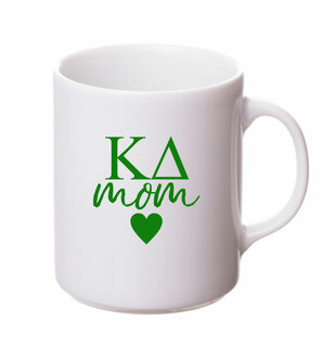 Kappa Delta White Personalized Coffee Mug