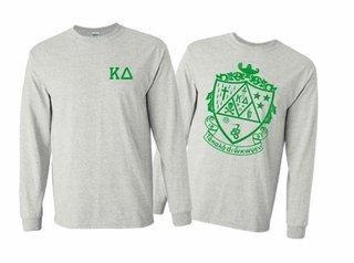Kappa Delta World Famous Crest Long Sleeve T-Shirt- MADE FAST!