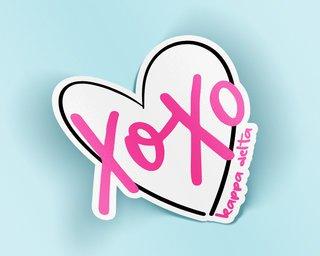 Kappa Delta XOXO Sticker