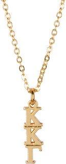 Kappa Kappa Gamma 22 k Yellow Gold Plated Lavaliere Necklace - ON SALE!