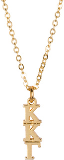 Kappa Kappa Gamma 22 k Yellow Gold Plated Lavaliere Necklace - ON SALE!