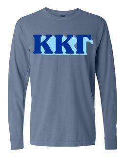 Kappa Kappa Gamma 3 D Greek Long Sleeve T-Shirt - Comfort Colors