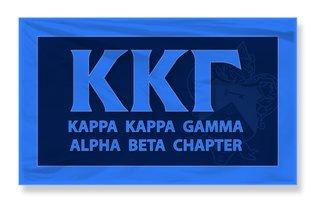 Kappa Kappa Gamma 3 X 5 Flag