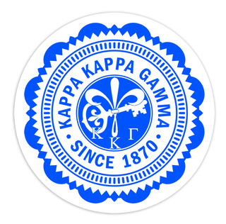 "Kappa Kappa Gamma 5"" Sorority Seal Bumper Sticker"