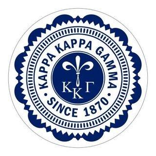 """Kappa Kappa Gamma 5"""" Sorority Seal Bumper Sticker"""