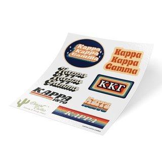 Kappa Kappa Gamma 70's Sticker Sheet