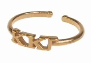Kappa Kappa Gamma Adjustable Letter Ring