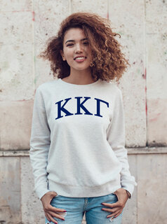 Kappa Kappa Gamma Arched Greek Lettered Crewneck Sweatshirt