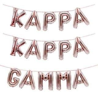 Kappa Kappa Gamma Banner Balloon Set