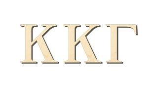 Kappa Kappa Gamma Big Wooden Greek Letters